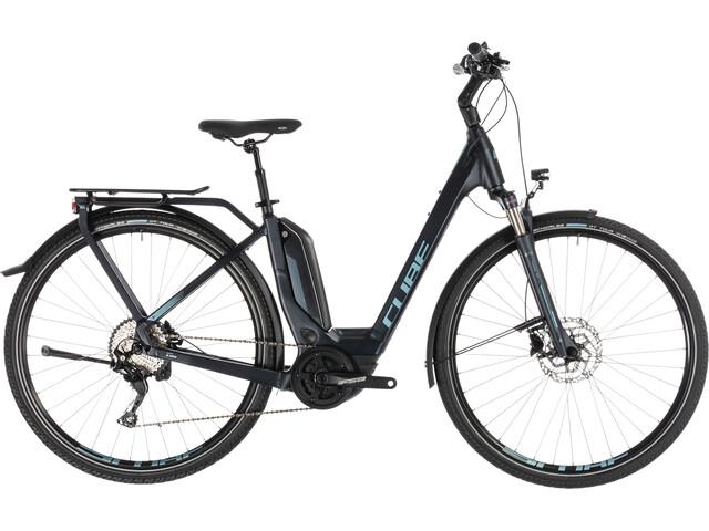 Cube Touring Hybrid Pro 500 E-trekkingcykel Easy Entry blå
